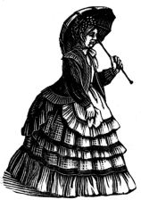 wood-engraving print: Miss Simmonds for The Runaway